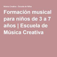 Formación musical para niños de 3 a 7 años | Escuela de Música Creativa Music Classroom, Music Theory, Teaching Music, My Little Girl, Teaching English, Kids Learning, Piano, Musicals, Education