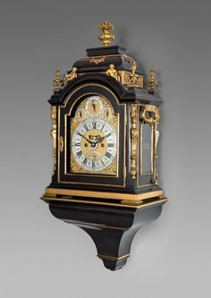 Antique George II gilt-mounted striking bracket clock by Charles Cabrier (II) A French Huguenot Emrigre aka CHARLES CABRIOR (worked from 1726-1775) c. 1730 London