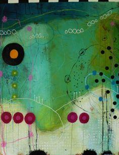 Janne Jacobsens tidligere værker. Flotte farverige malerier i forskellige størrelser med kontraster, små skriverier og små snirkler og forme. Collages, Collage Art, Contemporary Abstract Art, Modern Art, Art Journal Inspiration, Painting Inspiration, Pintura Graffiti, Creation Art, Art Sculpture