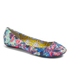 Another great find on #zulily! Charles Albert Blue Floral Flat by Charles Albert #zulilyfinds
