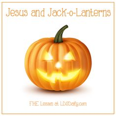 A great Halloween FHE (family home evening) lesson! It is all about how jack-o-lanterns can teach us about the gospel of Jesus Christ. Perfect and fun for all ages.