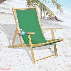 Sling Deck And Wood Beach Chair Lounger 59 95 Beachmall