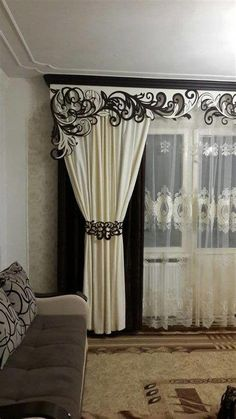 40 Amazing Woodworking Curtains Ideas - Decor Units in 2019 Luxury Curtains, Elegant Curtains, Home Curtains, Curtains Living, Beautiful Curtains, Valance Curtains, Bedroom Window Dressing, Curtain Designs For Bedroom, Curtain Styles