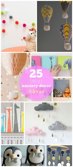 Click for 25 DIY Nursery Decor Ideas   Toddler Girl Room Decorating Ideas