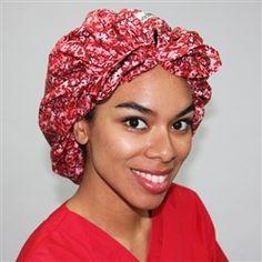 Green Scrubs - Tie Bonnet Hat - Brain Matters #scrubs.com