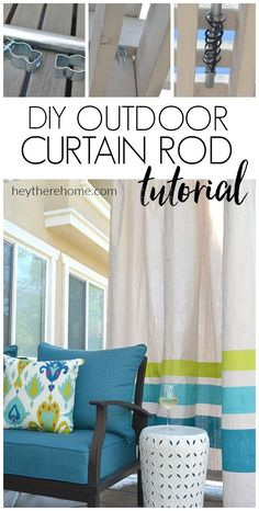 Awesome tutorial! How to make an outdoor curtain rod that will never rust and is…