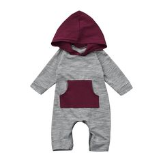 Sharemen Baby Boy Girl Cute Hooded Romper Bodysuit Clothes 612 Months Gray ** Details can be found by clicking on the image.-It is an affiliate link to Amazon. #BabyClothing