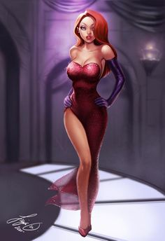 Jessica Rabbit ... cuz she's got moxy. Digital Art by Siya Oum