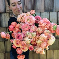 In between packing thousands of dahlia tubers, we've been picking armloads of the most insanely beautiful ranunculus I've ever seen. It's been a very productive week so far! #farmerflorist #flowerfarmer