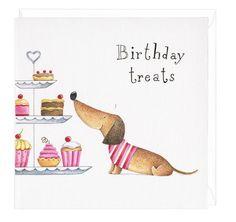 Dachshund Birthday Treats Greeting Card