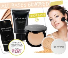 @glo Professional glominerals bases were voted Best Foundation & Mineral Makeup in the DaySpa Magazine Readers' Choice Awards!