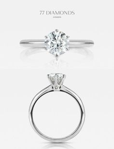 Striking height and poise- our 'Allure' engagement ring #diamonds #engagementrings