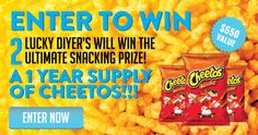 Do you love Cheetos? Enter to win! {US} 7/29/16 via... sweepstakes IFTTT reddit giveaways freebies contests