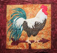 The pattern is from McKenna Ryan and I purchased the pattern and fabric as a kit.  You can see the pattern and other fabulous McKenna Ryan creations at Pine Needles web site.  Each chicken is wonderful all by itself.