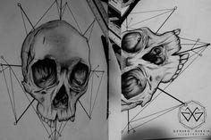 Geometric Skull Tattoo by Genaro Garcia, via Behance