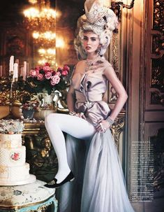 Regally Aristocratic Captures : Vogue Japan 'All the Riches a Girl Can Have'