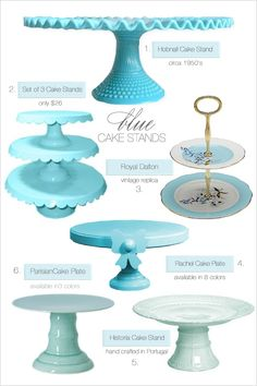 blue cake stands