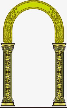 Arches pattern PNG and Clipart Islamic Motifs, Islamic Art, Pillar Design, Boarder Designs, Photography Studio Background, Paisley Art, Baroque Pattern, Design Seeds, Dots Design