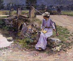 "THEODORE ROBINSON: ""La débâcle"", 1892 - oil on canvas - Scripps College, Claremont, California"