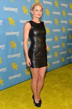 Jennifer Morrison #morrison #actress leather tank minidress