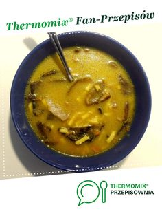Zupa grzybowa z makaronem jest to przepis stworzony przez użytkownika ajcyrtap. Ten przepis na Thermomix® znajdziesz w kategorii Zupy na www.przepisownia.pl, społeczności Thermomix®. Cheeseburger Chowder, Thai Red Curry, Ethnic Recipes, Food, Thermomix, Essen, Meals, Yemek, Eten