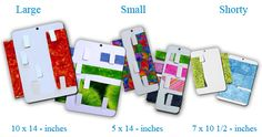 Fabric Organizers - enable you to store your fabric without foldlines.  Available in several sizes for full size fabric and remnants / scraps.