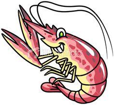 Shrimp Seafood Cartoon Royalty Free Stock Vector Art Illustration #EasyPin