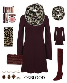 """Leopard Love    Oxford contest"" by im-karla-with-a-k on Polyvore featuring Miss Selfridge, Topshop, Charlotte Tilbury, Charles by Charles David and Kate Spade"