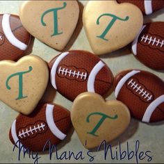 Football cookies by My Nanas Nibbles