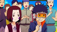 Obito & Rin Kids GIF (lol just watching him try not tobfreak out)