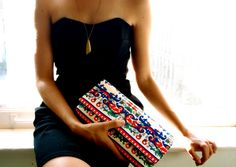 contemporary clutch with black dress!