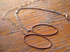 Rose gold oval bracelet with rhodium or gold chain by venicemama, $45.00