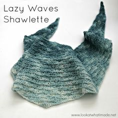The Lazy Waves Shawlette is tiny! It is dense and mildly textured. Made in a slow colour-change sock yarn, it is perfect for using as a neckerchief. Depending on your personal tension, it can even be used as a small shawl. Crochet Shawls And Wraps, Crochet Scarves, Crochet Yarn, Crochet Clothes, Crochet Hooks, Shawl Patterns, Crochet Patterns, Crochet Designs, All Free Crochet