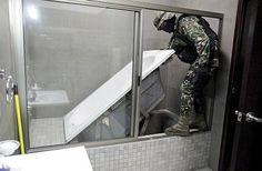 Inside The Secret Tunnel That Joaquin 'El Chapo' Guzman Once Used To Escape Hidden Spaces, Hidden Rooms, Hidden Panic Rooms, Hidden Compartments, Secret Compartment, Secret Hiding Places, Secret Escapes, Secret Space, Safe Room