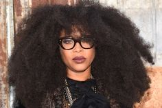 Singer-songwriter Erykah Badu attends the Givenchy fashion show during Spring 2016 New York Fashion Week at Pier 26 at Hudson River Park on September 11, 2015 in New York City.