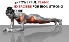 30 GIFS OF PLANK EXERCISES – A KILLER CORE BURNER AND BODY SCULPTOR – FITNESS