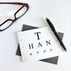 Eye Doctor Thank You Card – Surgery – Eye Test – Glasses – Optometrist – Optometry – National Doctors Day – Medical Theme – Eye Doctor - Health Home Optometry Office, Office Art, Optometry Humor, Note Cards, Thank You Cards, National Doctors Day, Eye Doctor, Small Cards, Eye Art