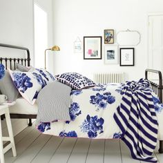 Bonnie Blue Floral Bedding | Butterfly Floral by Joules at Bedeck 1951
