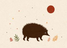 Hedgehog!  painted with gouache