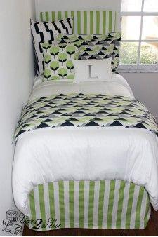 Kiwi & Charcoal Geometric Designer Bed In A Bag Set