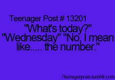 """Wooooow that's me. Tip: When you want the """"number,"""" ask for the DATE, not the day. It works.... you're welcome."""
