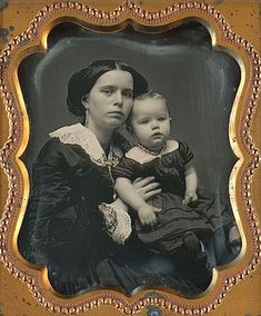 Mother and child, ca 1855.