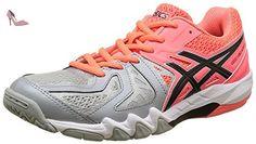 Gel Blade 5, Chaussures de Handball Femme, Orange (Flash Coral/Black/Mid Grey), 37 1/2 EUAsics