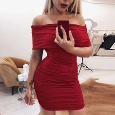 3e62ab7744e8 2018 Hot Sale Summer Party Dress Red Black