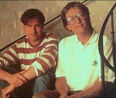 Steve Jobs y Bill Gates de joven