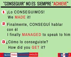 Spanish vocabulary - Conseguir