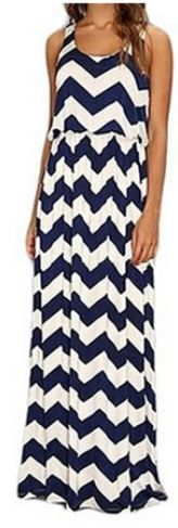 Sleeveless chevron S