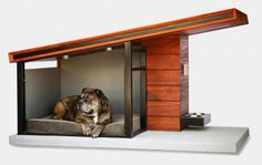 Spoil your pooch with the epic MDK9 Dog Haus, a Brazilian teak wood and powder coated steel construction with its very own brushed aluminum name plaque. Inside is included a Jax and Bones ultra luxe memory foam pillow in a color of your choice. He is your best friend after all, right?