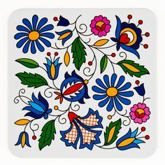 Folk Embroidery Patterns Do this to light bulbs? try out! Folk Embroidery, Embroidery Stitches, Embroidery Patterns, Folk Art Flowers, Flower Art, Bordado Popular, Polish Folk Art, Scandinavian Folk Art, Pattern Art