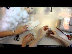 """Часть 1. Кукла своими руками. Создание куклы """"Эльза"""". - YouTube"""